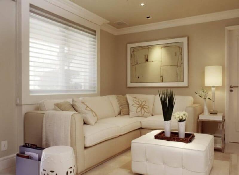 cor de parede nude para sala de estar decorada com estilo clássico Foto Camarina Studio
