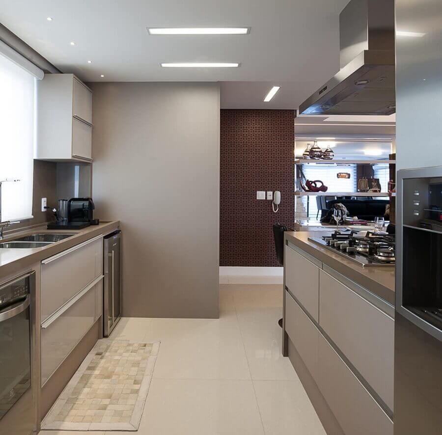cor nude para cozinha planejada moderna Foto Pinterest