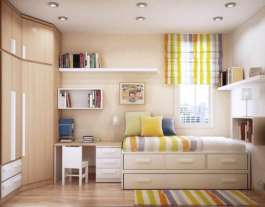cor nude para decoração de quarto planejado Foto Pinterest