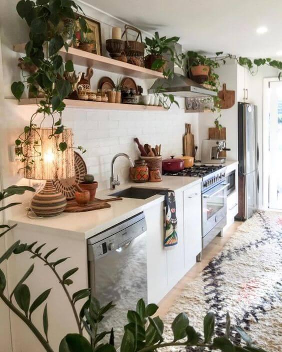 Cozinha estilo boho chic