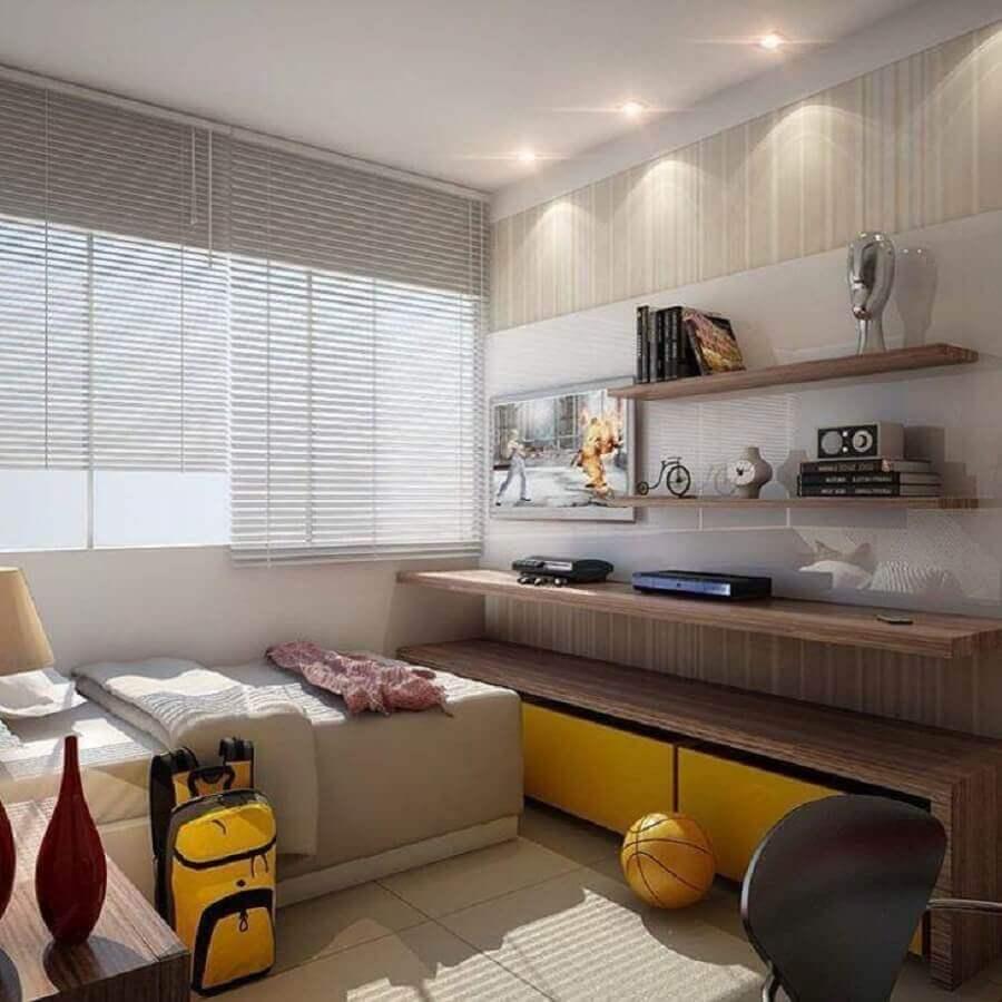 decoração de quarto de adolescente masculino planejado Foto Daniela Andrade Arquitetura