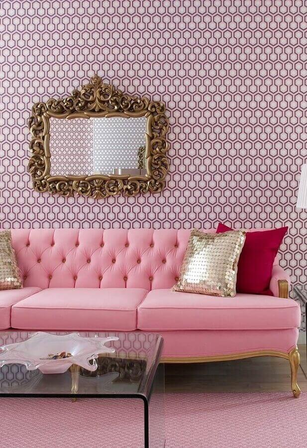 decoração de sala cor de rosa Foto Pinterest