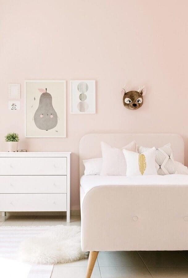 decoração delicada para quarto cor rosa claro Foto Pinterest
