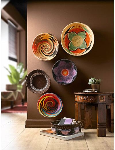 Quadros com estampas africanas coloridas