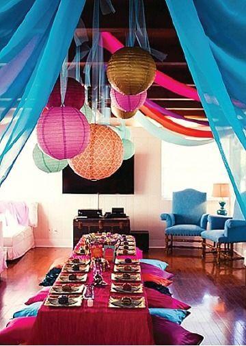 Decoração árabe colorida