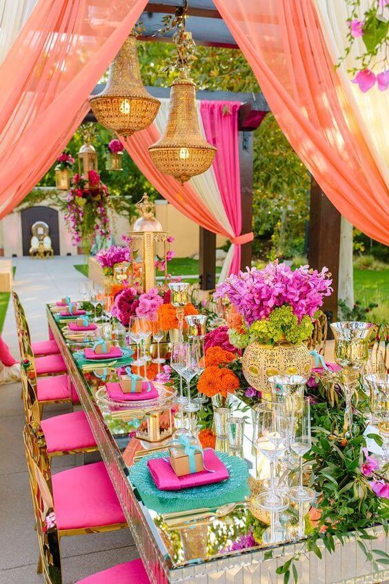 Festa com decoração árabe de dia