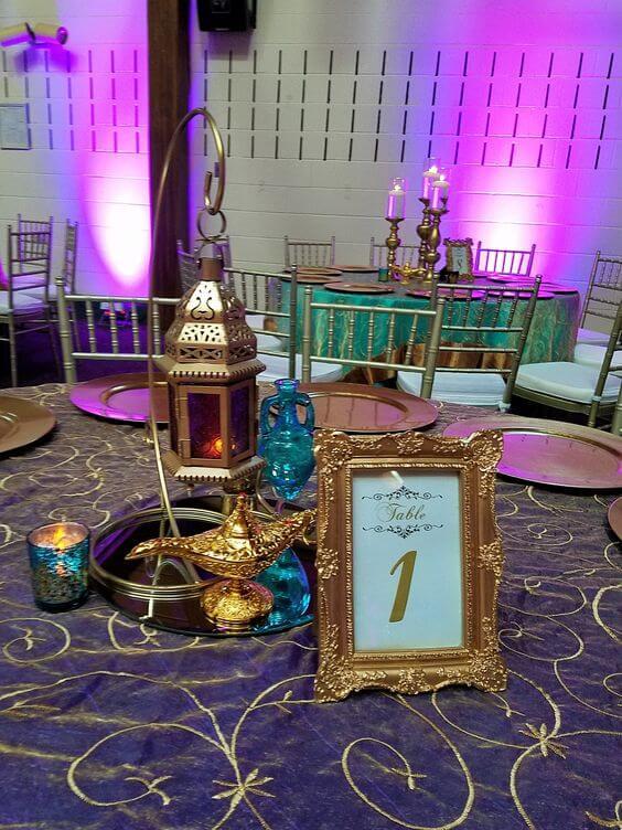 Decoração árabe para festa de aniversário