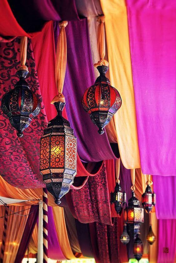 Iluminação estilo decoração árabe
