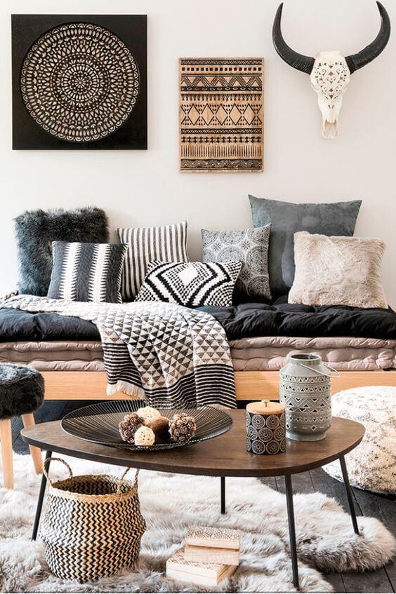 Decore sua casa com estampas africanas estilo etnicas para decorar a sala de estar