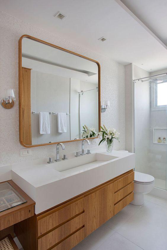 Gabinete para banheiro com cuba embutida
