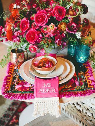 Jantar com decoração árabe