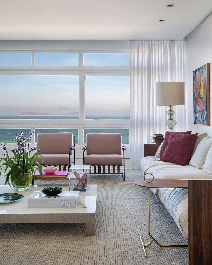kit poltrona decorativa para sala ampla moderna e sofisticada Foto Babi Teixeira
