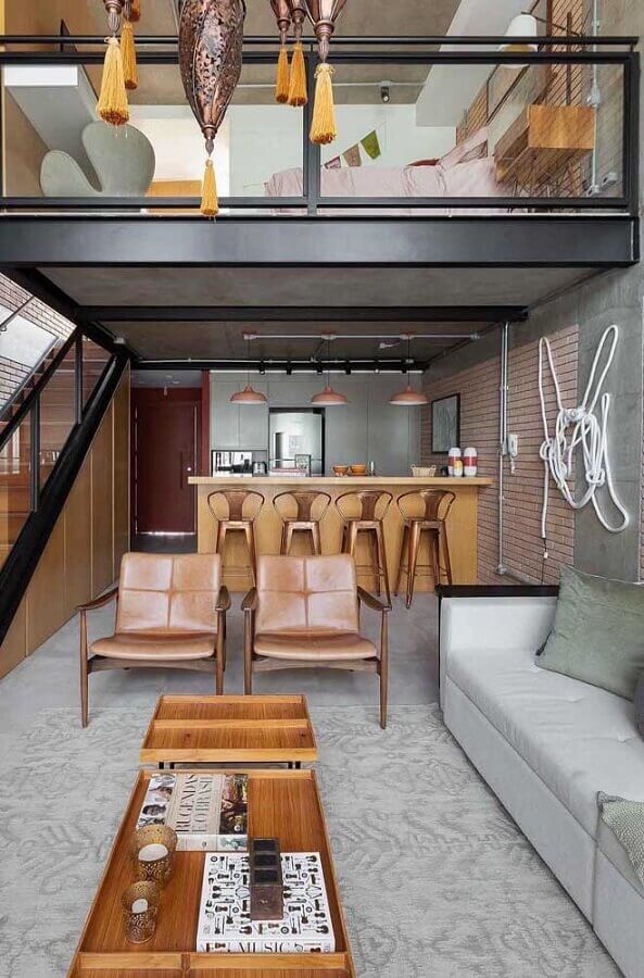 kit poltrona decorativa para sala moderna com estilo industrial Foto Futurist Architecture