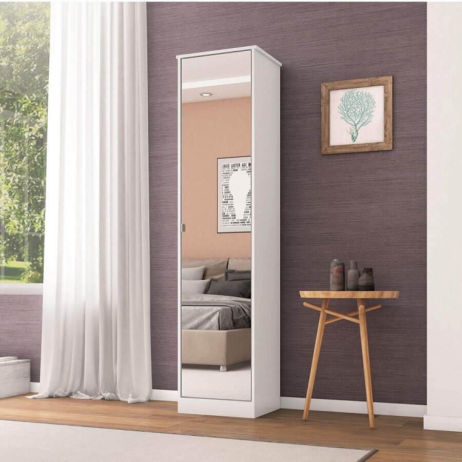 modelo de armário multiuso uma porta com espelho Foto Pinterest