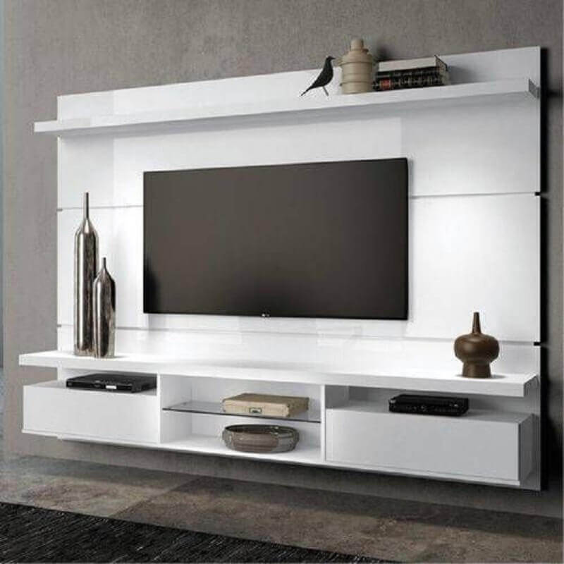 modelo de rack com painel suspenso off white Foto Pinterest