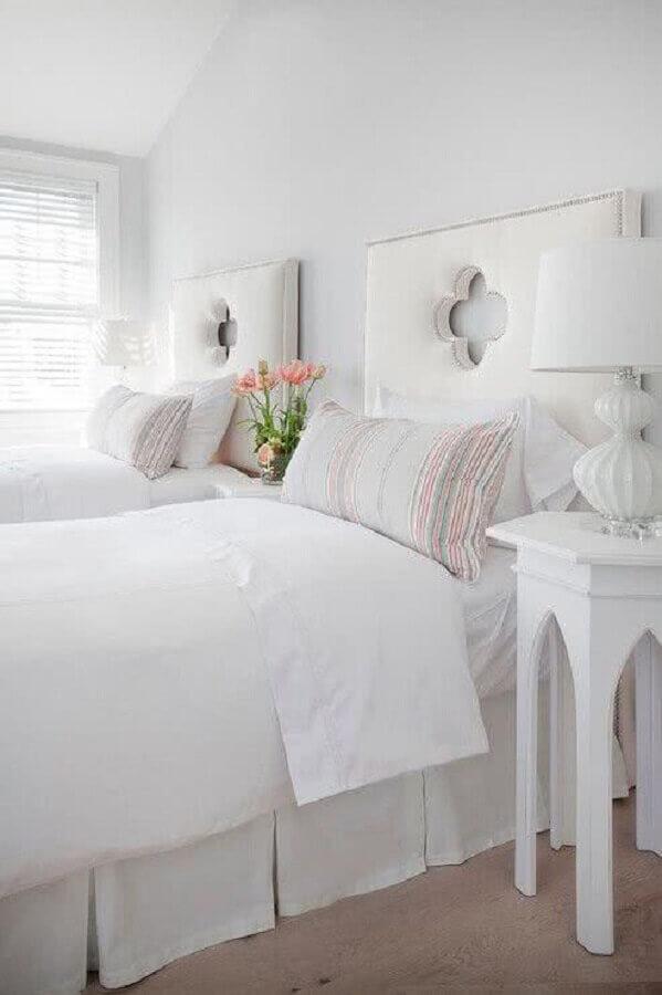 modelos de cabeceira de cama de solteiro branca Foto Pinterest