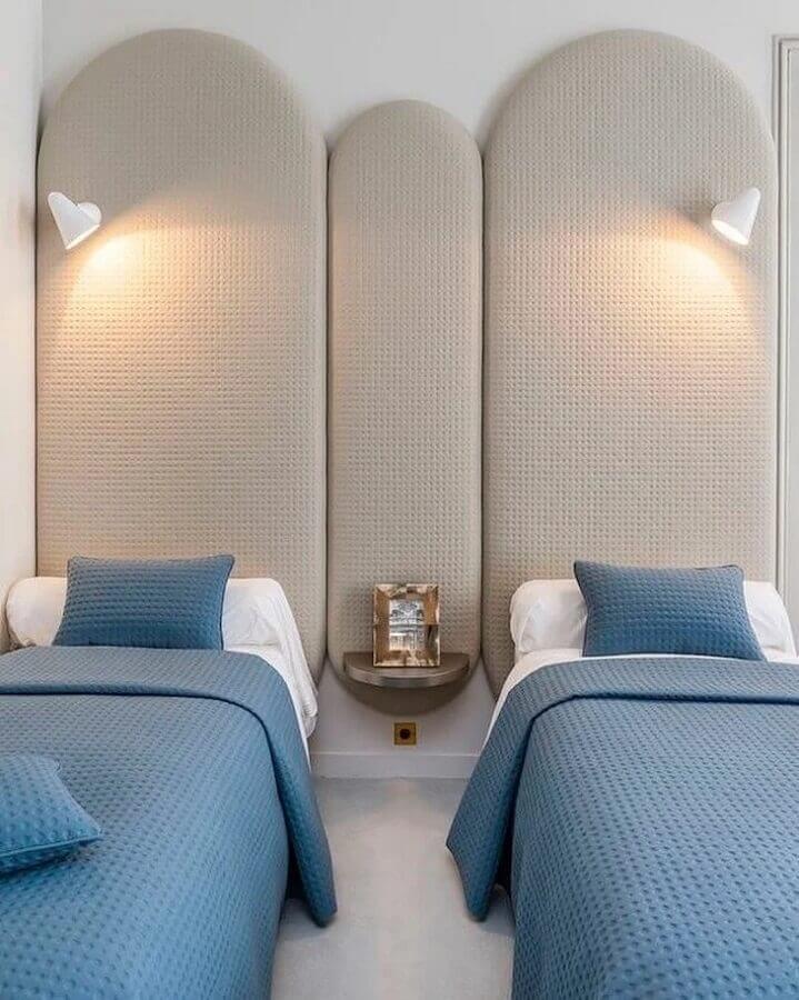 modelos de cabeceira de cama de solteiro estofada Foto Pinterest