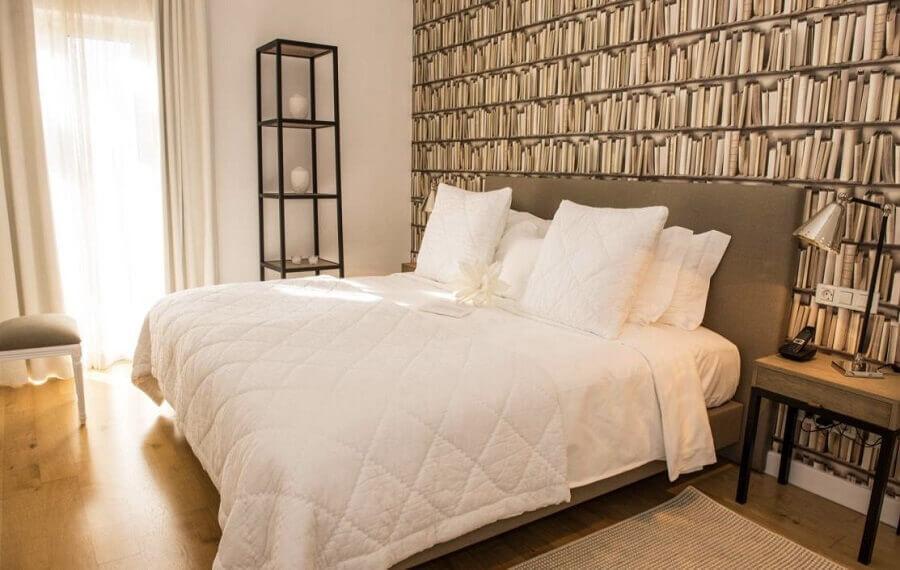 papel de parede 3d para quarto de casal simples Foto Home Fashion Trend