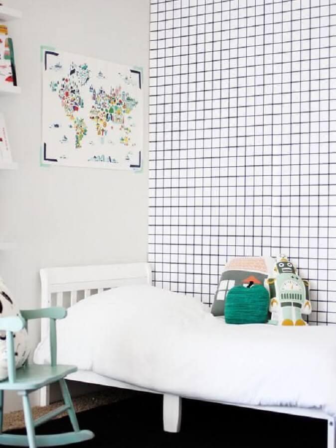 papel de parede para quarto infantil simples Foto Home Fashion Trend