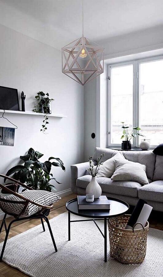 poltrona para sala de estar pequena cinza Foto Archzine