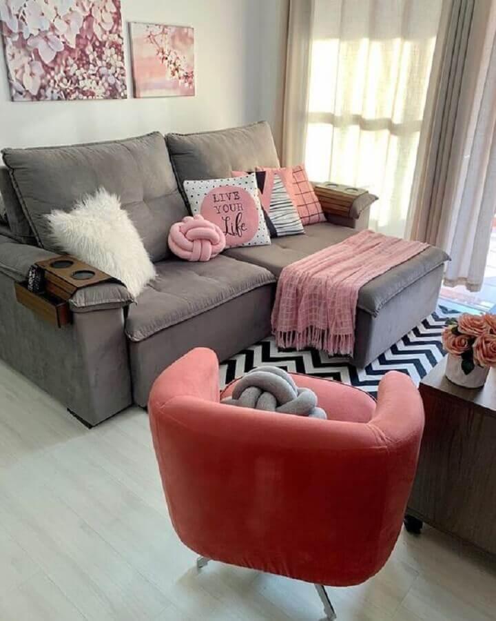 poltrona para sala pequena simples Foto Pinterest
