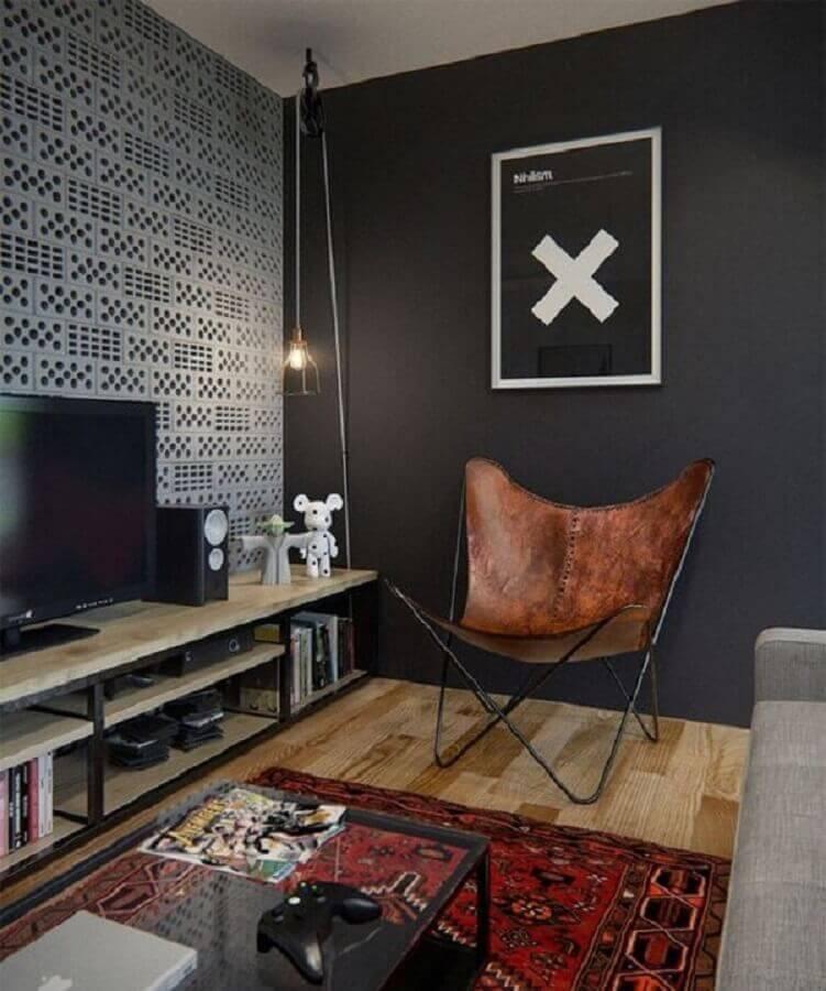 poltronas para sala de TV pequena com estilo industrial Foto Decor & Home Organizer