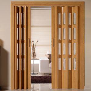 Porta sanfonada de madeira para escritório moderno