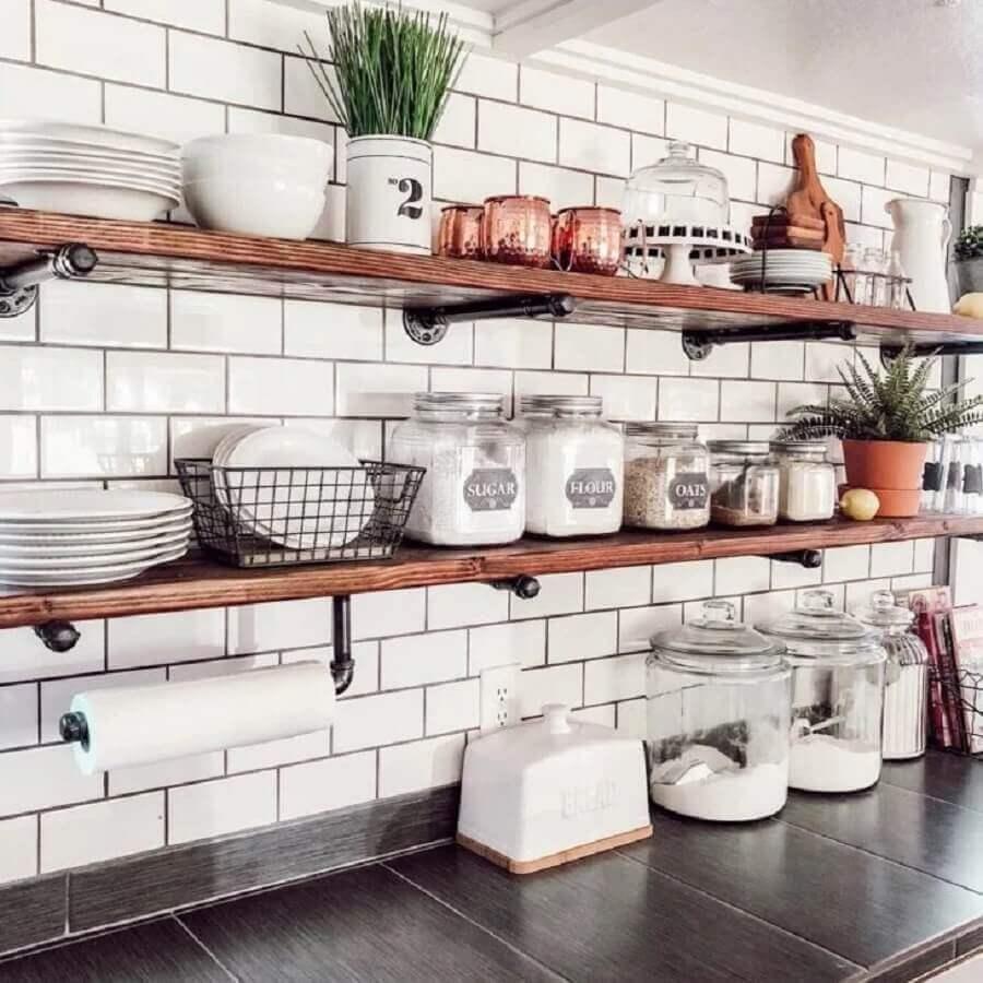 prateleira para cozinha industrial Foto Pinterest