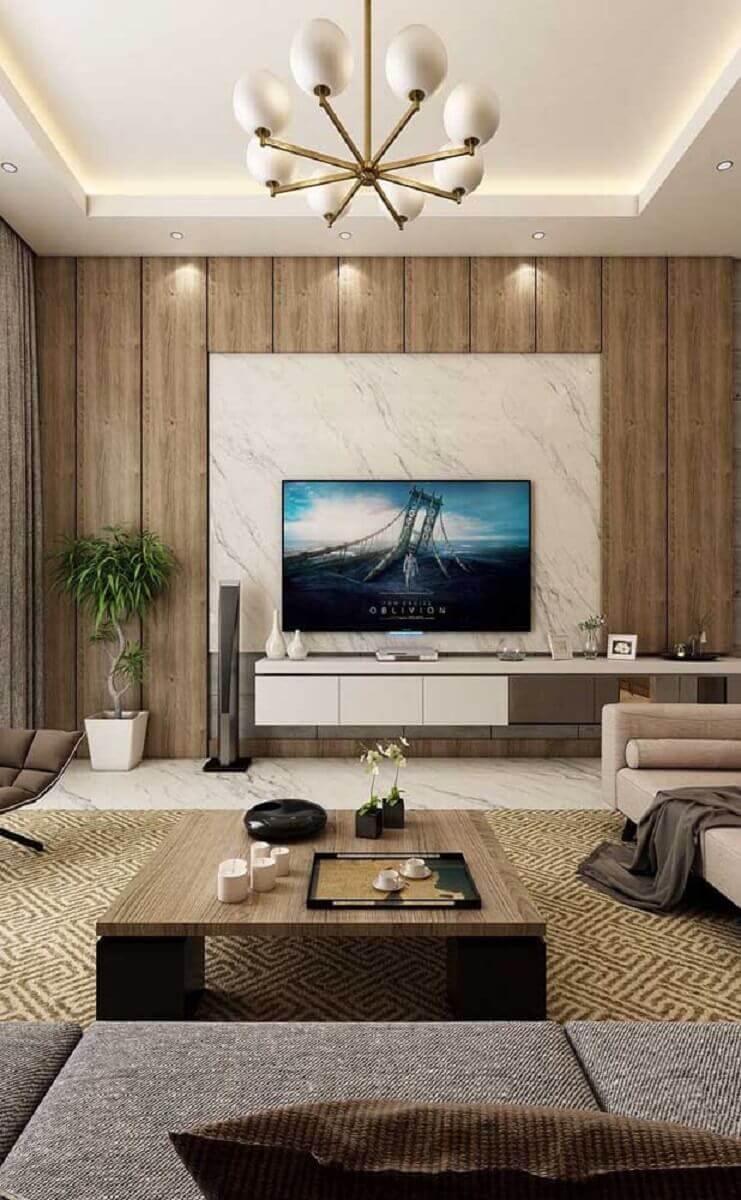 rack com painel para sala moderna e sofisticada Foto Apartment Therapy