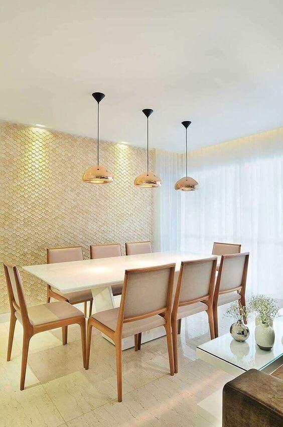 Revestimento para sala de estar com papel de parede moderno