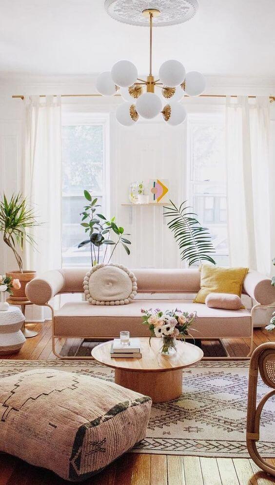 Sala de estar estilo boho chic