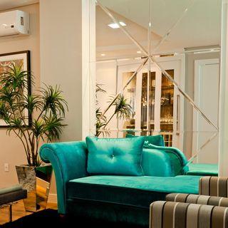 Sofá divã turquesa