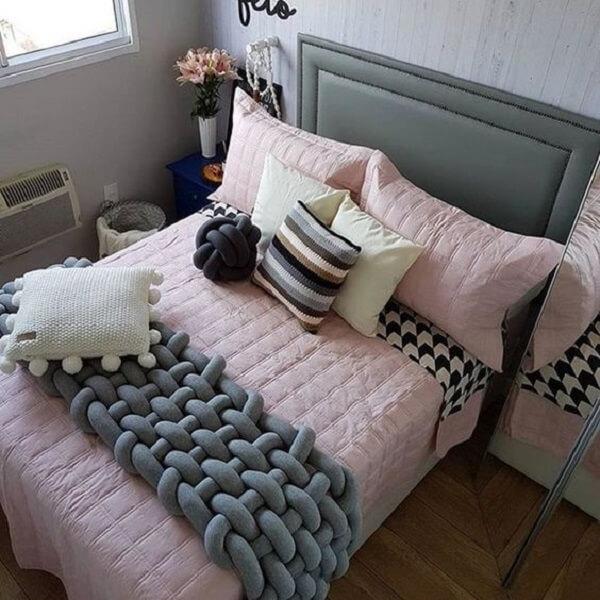 A cama box pode ser decorada com um bom jogo de cama