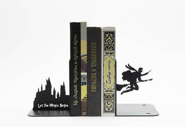 Aparador de livros para os fãs do filme Harry Potter