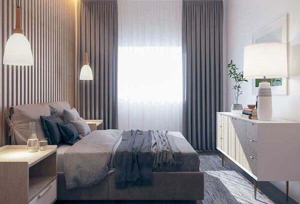 Avalie as medidas do ambiente para que a cama de viúva se encaixe corretamente no quarto