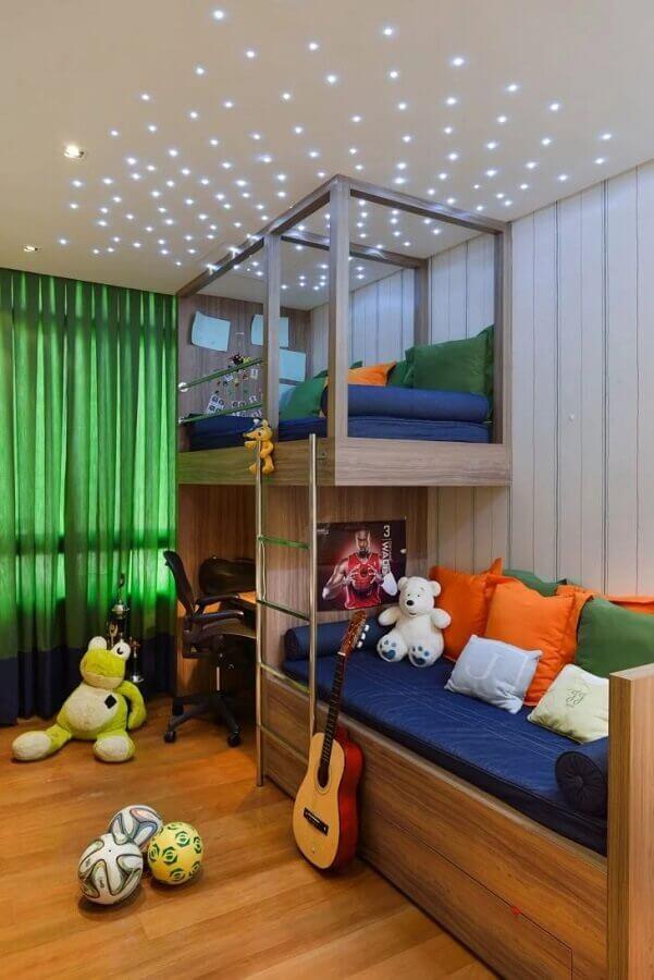 Decoração com beliche planejado para quarto infantil completo Foto Marlon Gama