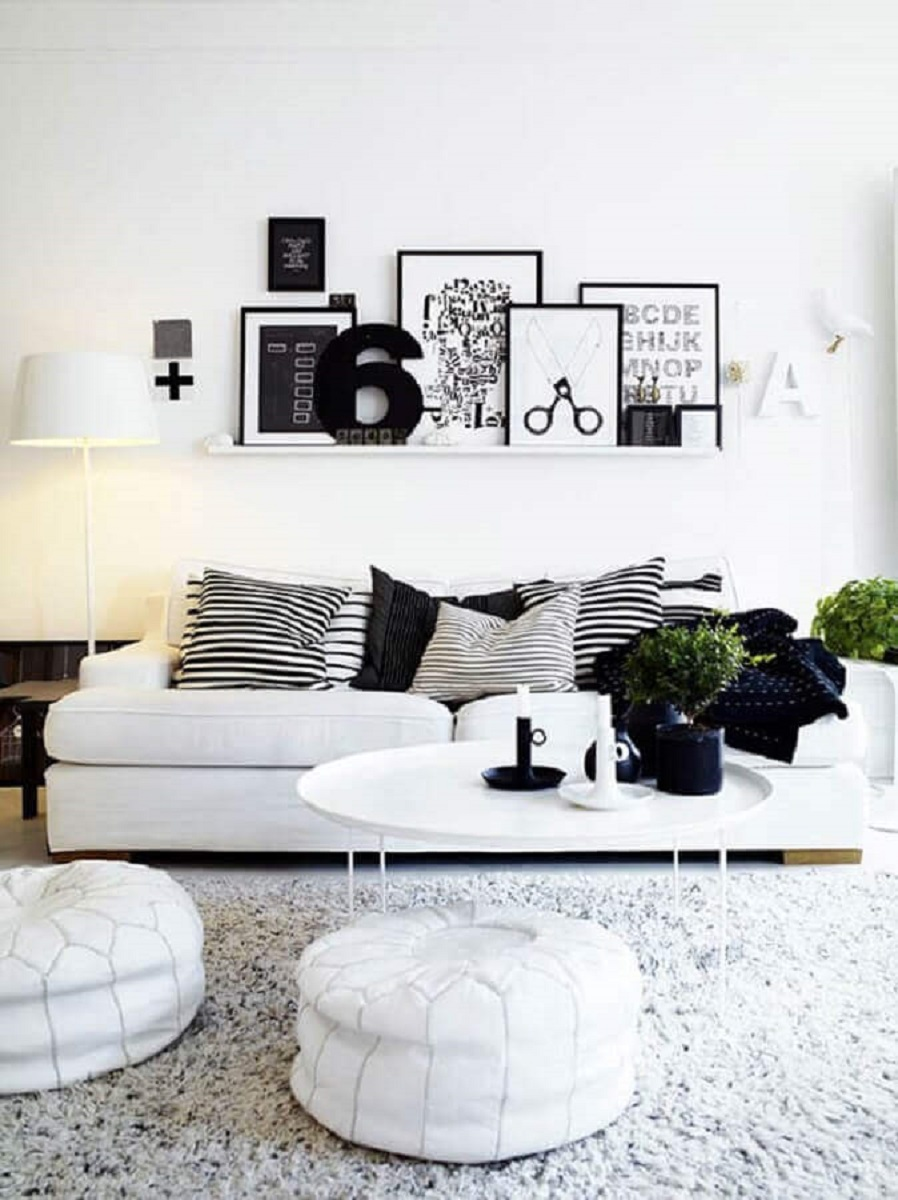 Decoration of table for the living-room white Picture on Pinterest