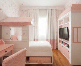 Decoração para quarto infantil completo feminino branco e rosa Foto Maria Brasil Arquitetura e Interiores