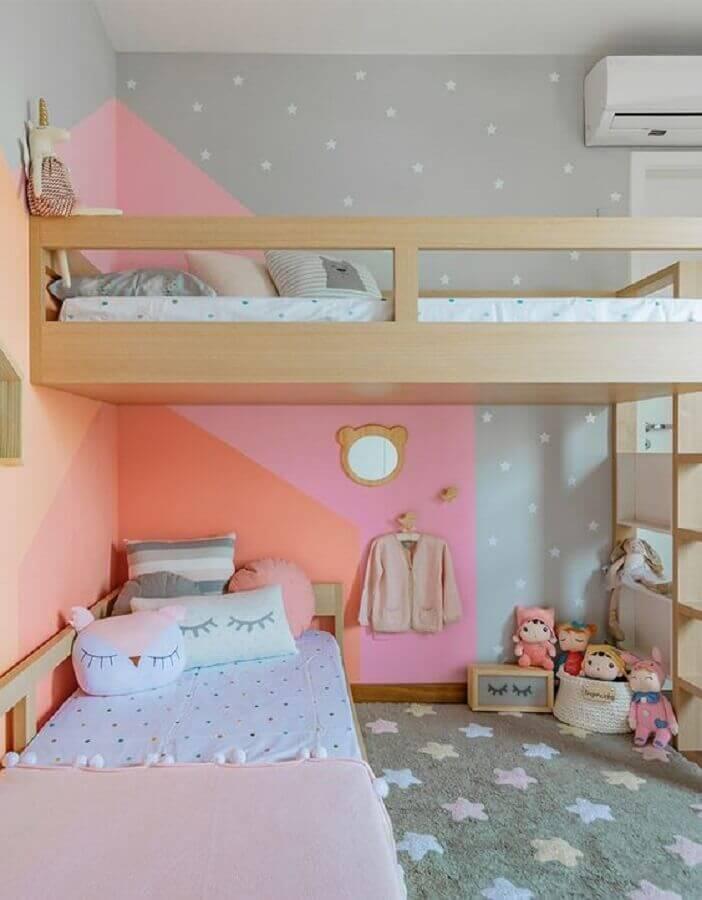 Decoração para quarto infantil planejado com beliche Foto Jeito de Casa