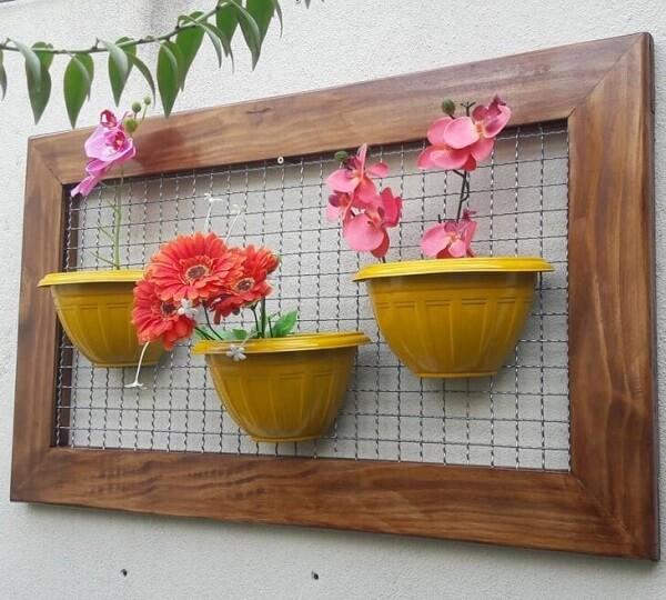 Floreira de parede criativa