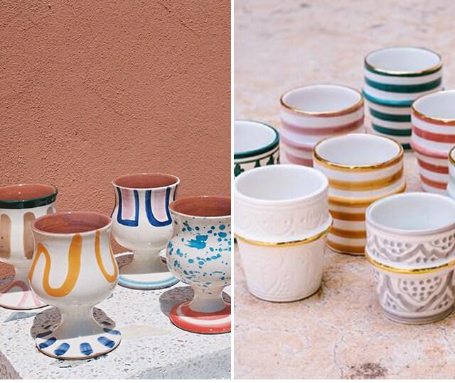 As louças e cerâmicas coloridas trazem um toque especial para a decoração marroquina