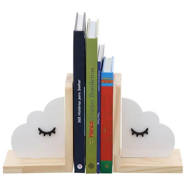 Modelo de aparador de livros infantil em formato de nuvem