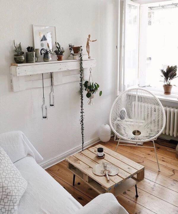 Modelo de cadeira de corda de nylon branca para decoração clean