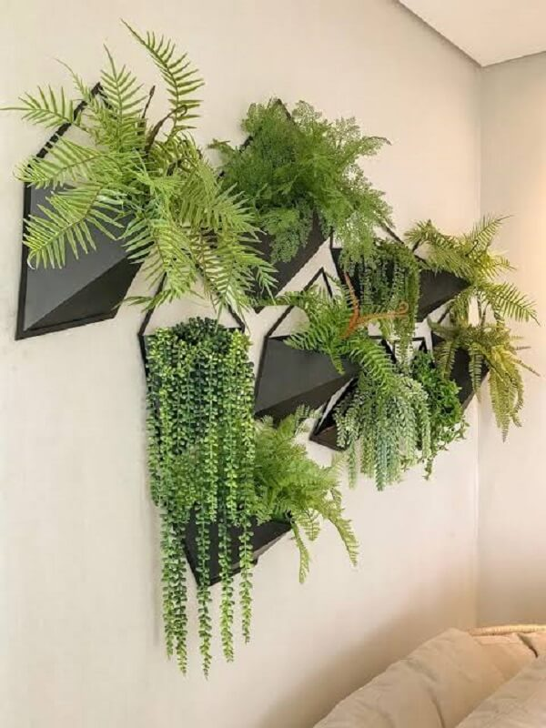 Modelo de floreira de parede de ferro
