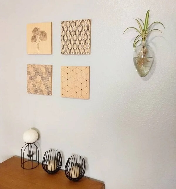Modelo inusitado de floreira de parede