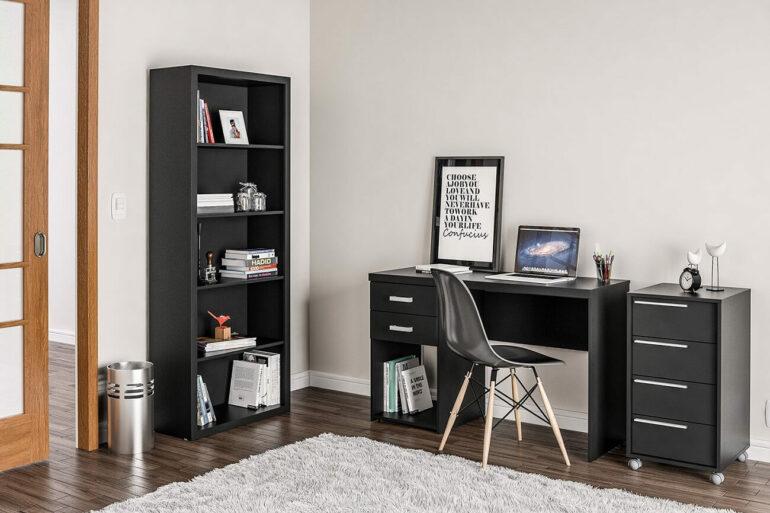 O conjunto de escritório é perfeito para aqueles que desejam mais praticidade na hora de compor a decoração do seu ambiente de trabalho
