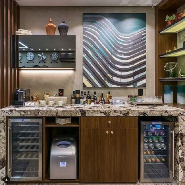 Reserve um espaço especial no ambiente para acomodar seu frigobar inox