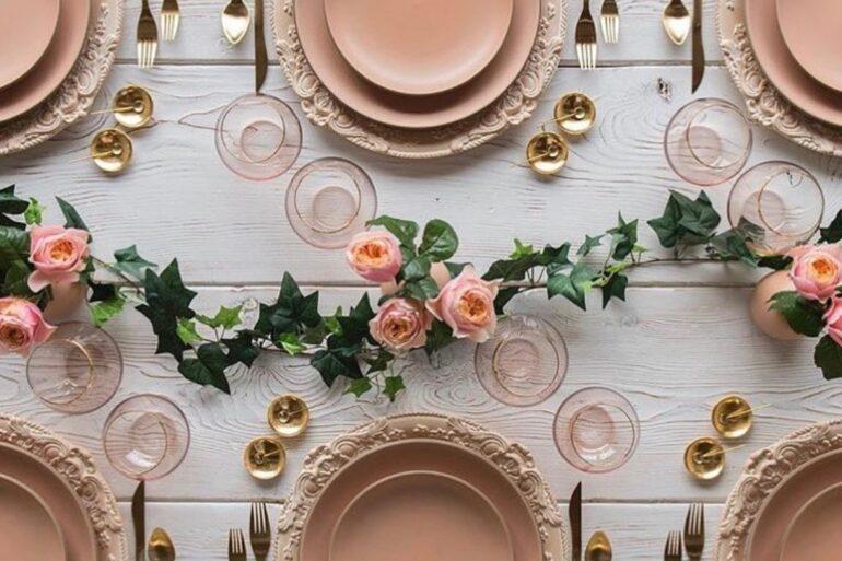 Aparelho de jantar 42 peças rose - Via: Pinterest