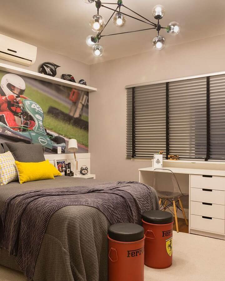 cores claras para quarto masculino simples Foto Studio Deux