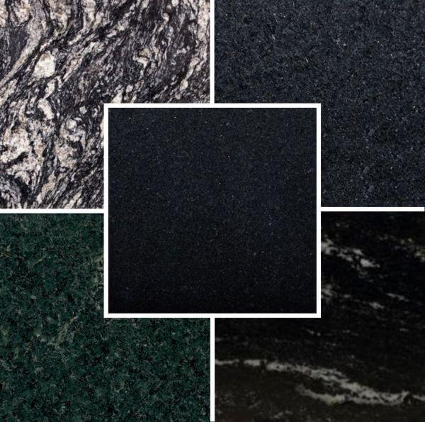 Cores de granito preto